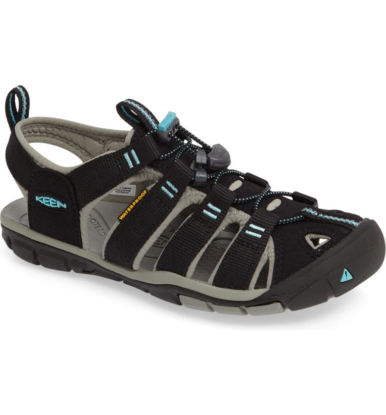 KEEN 'Clearwater CNX' Sandal, Main, color, BLACK/ RADIANCE CANVAS