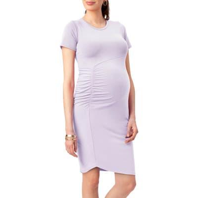 Stowaway Collection Uptown Maternity Dress, Purple