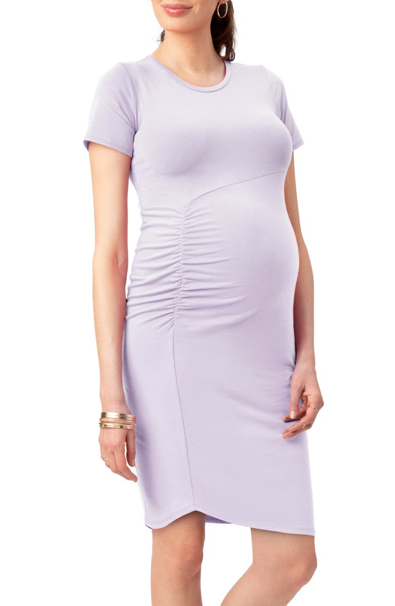 STOWAWAY COLLECTION Uptown Maternity Dress, Main, color, LAVENDER