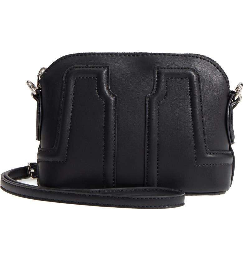 SOLE SOCIETY Structured Faux Leather Dome Crossbody, Main, color, 001