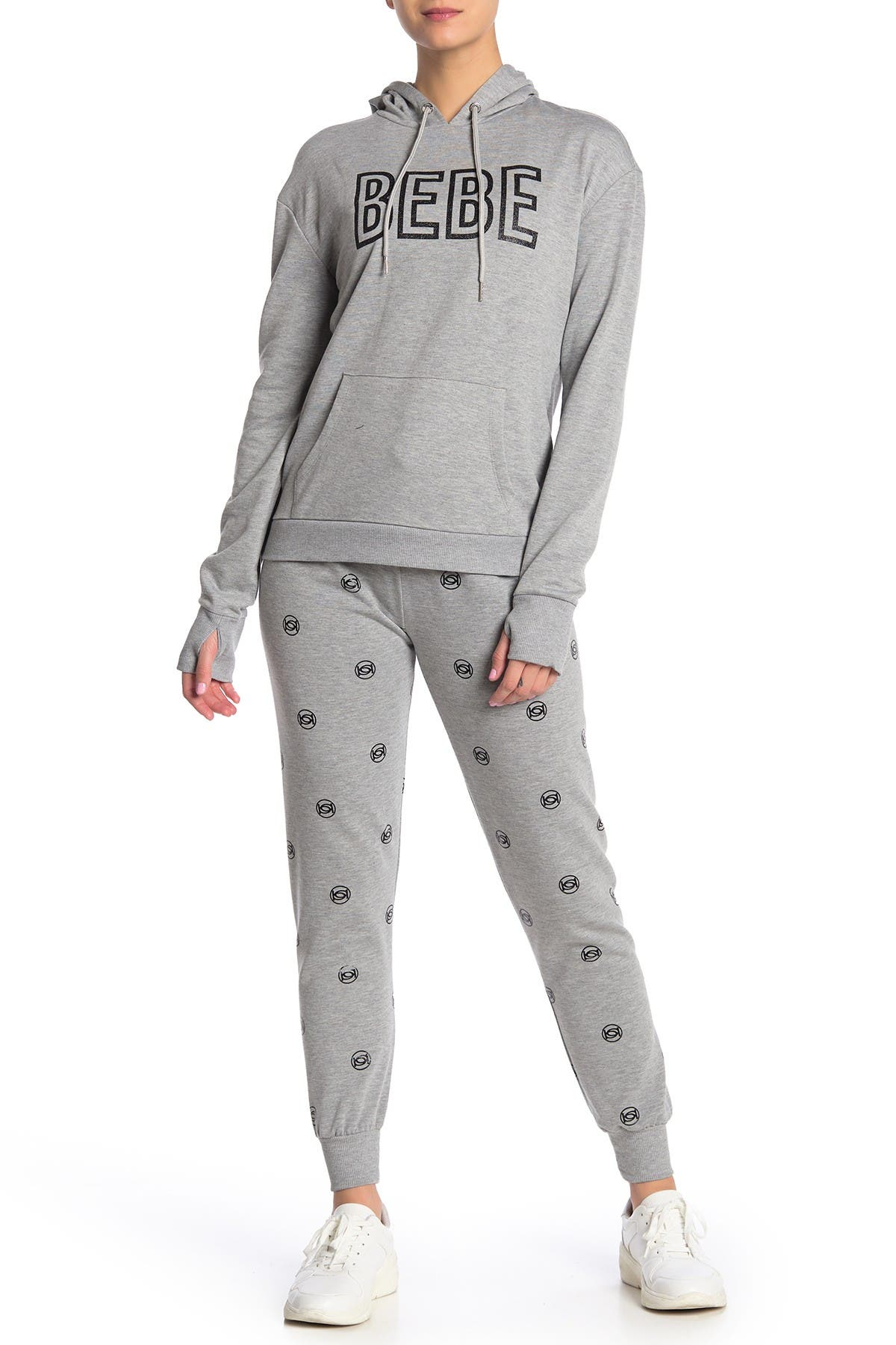Image of bebe Mini Logo Drawstring Joggers