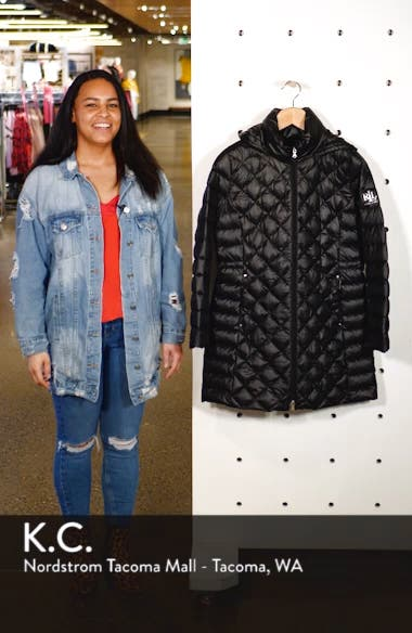 Down Packable Quilted Hooded Coat, sales video thumbnail