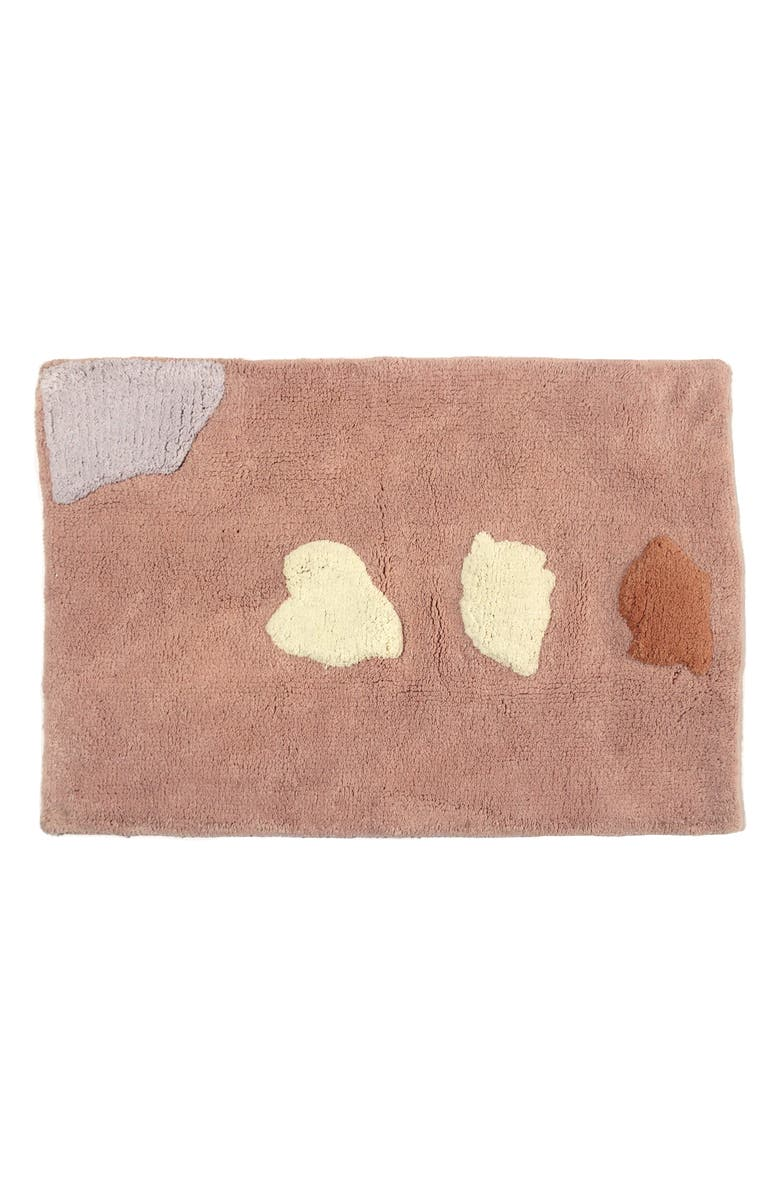 COLD PICNIC Islands Bath Mat, Main, color, DUSTY ROSE