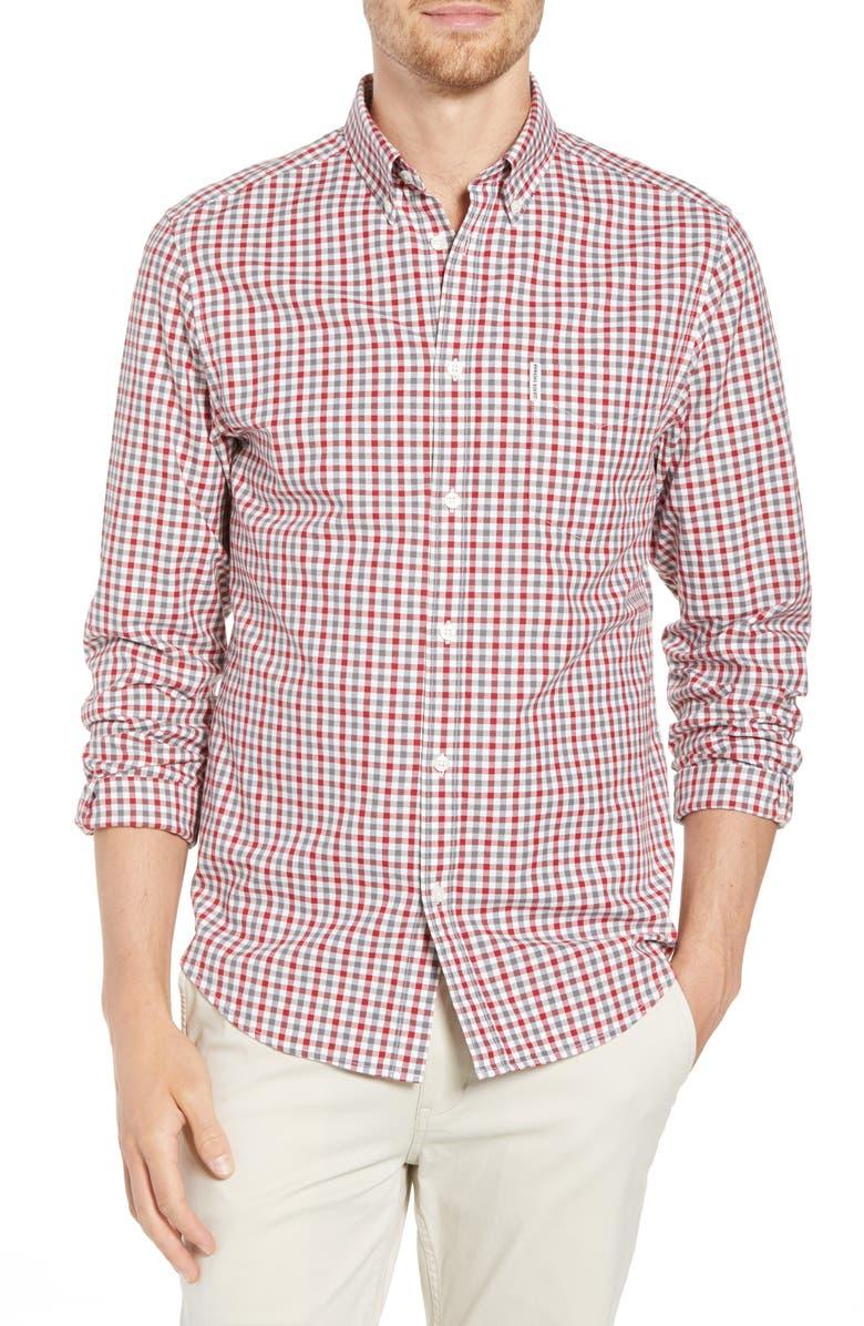 BEN SHERMAN Slim Fit Gingham Woven Shirt, Main, color, 101