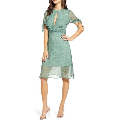 J.o.a. Keyhole A-Line Dress, Green