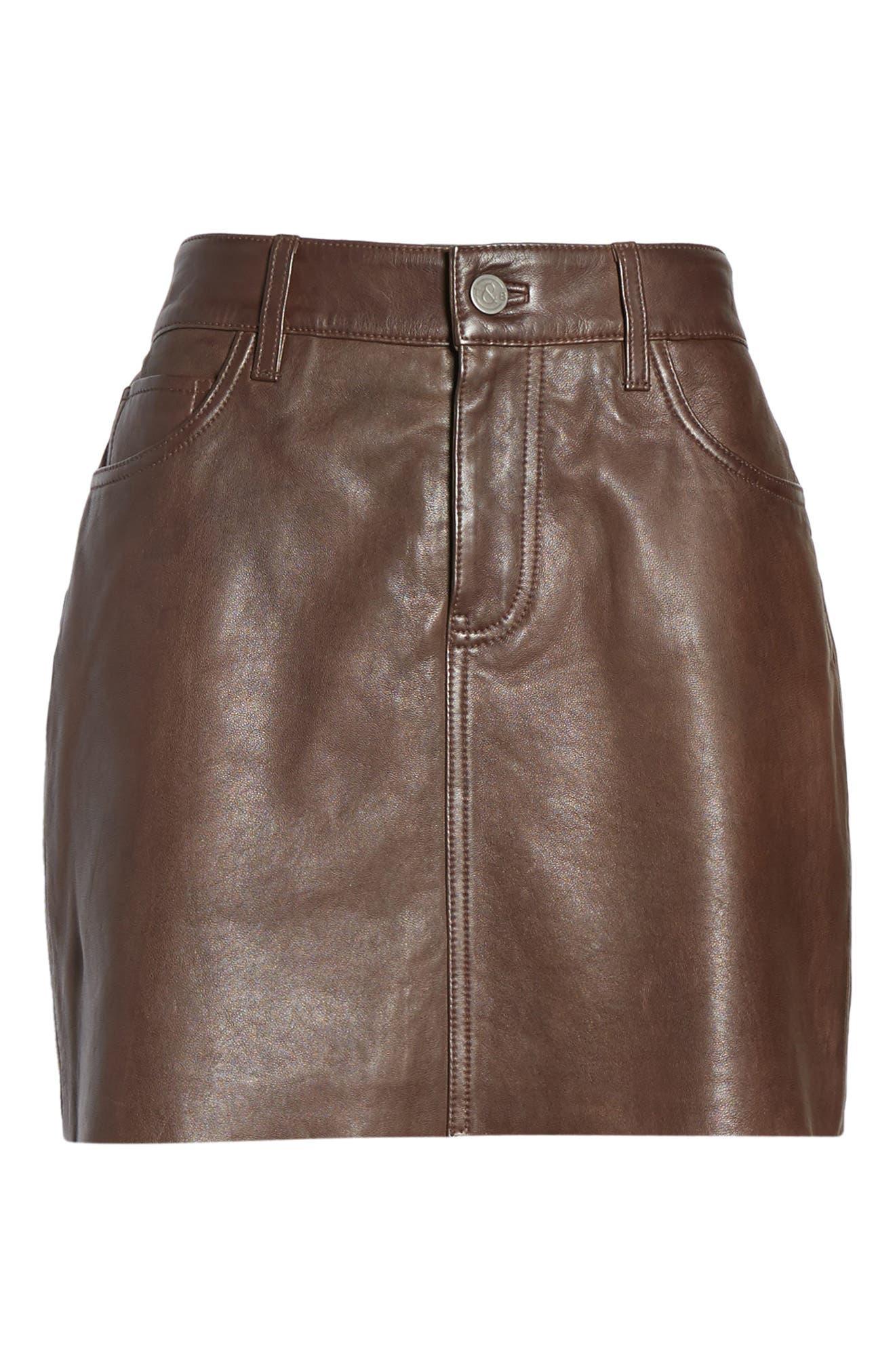 ,                             x Something Navy Leather Miniskirt,                             Alternate thumbnail 6, color,                             200