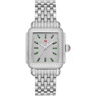 Michele Deco Diamond Bracelet Watch,