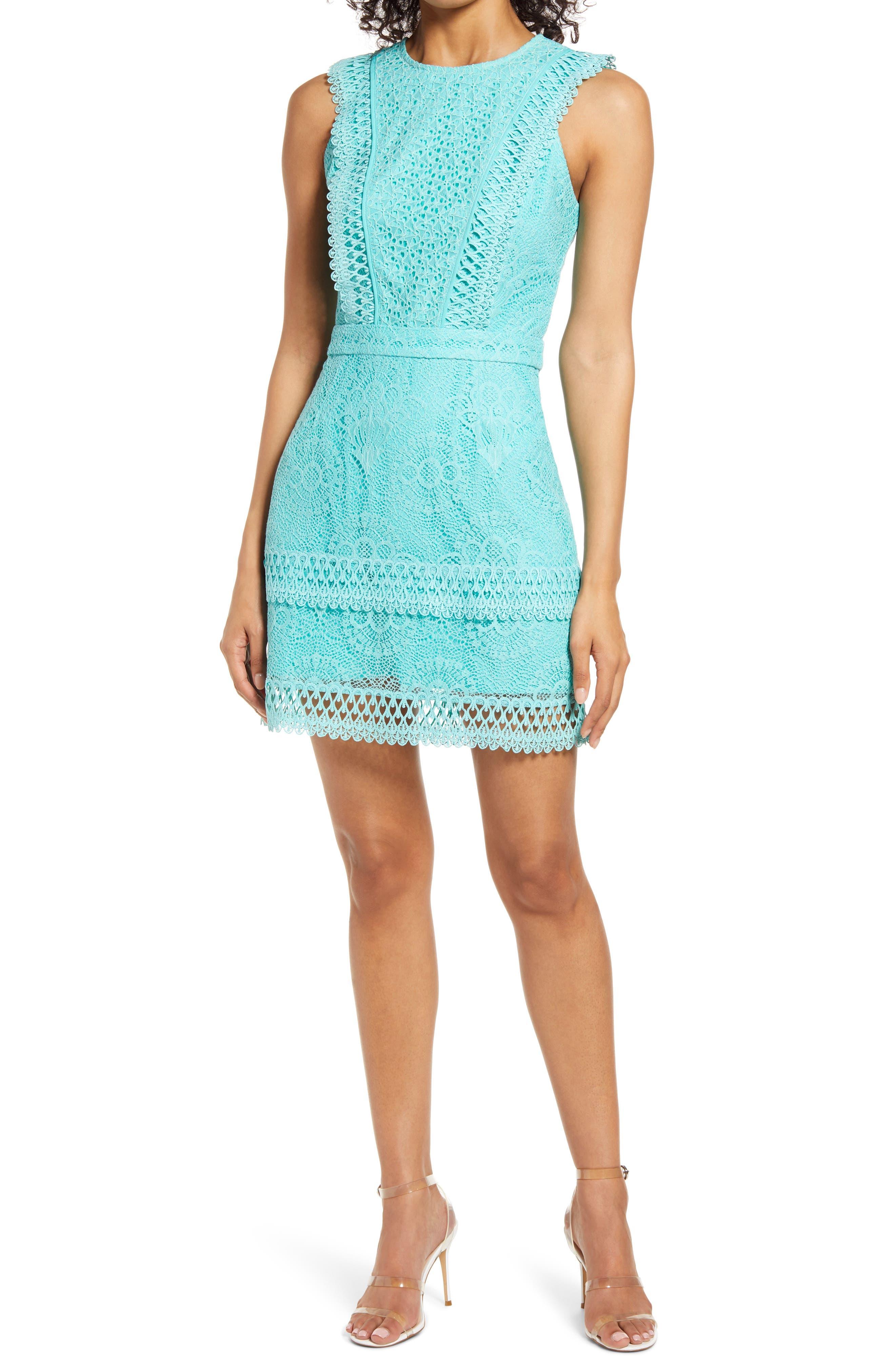 Shayna Mixed Lace Dress