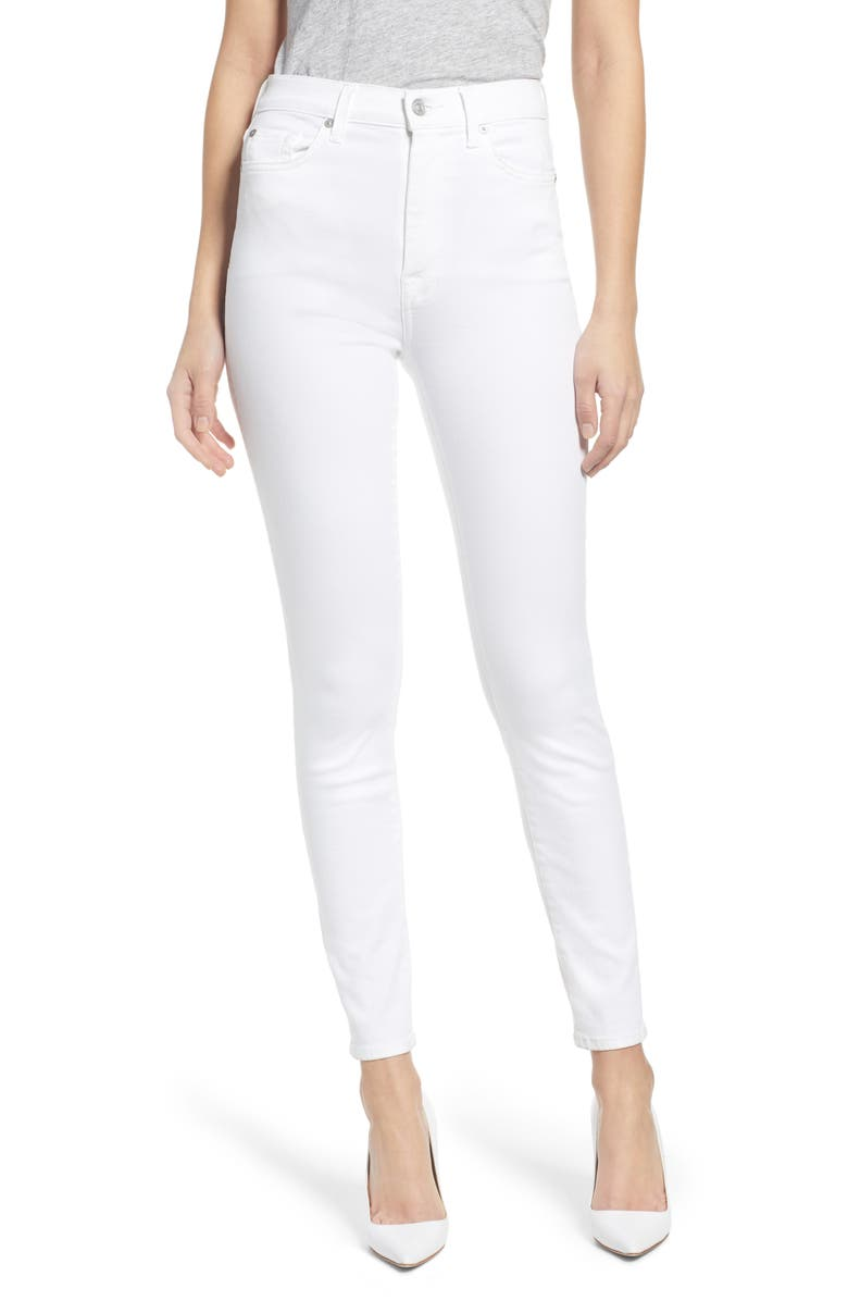 7 FOR ALL MANKIND<SUP>®</SUP> High Waist Ankle Skinny Jeans, Main, color, 102