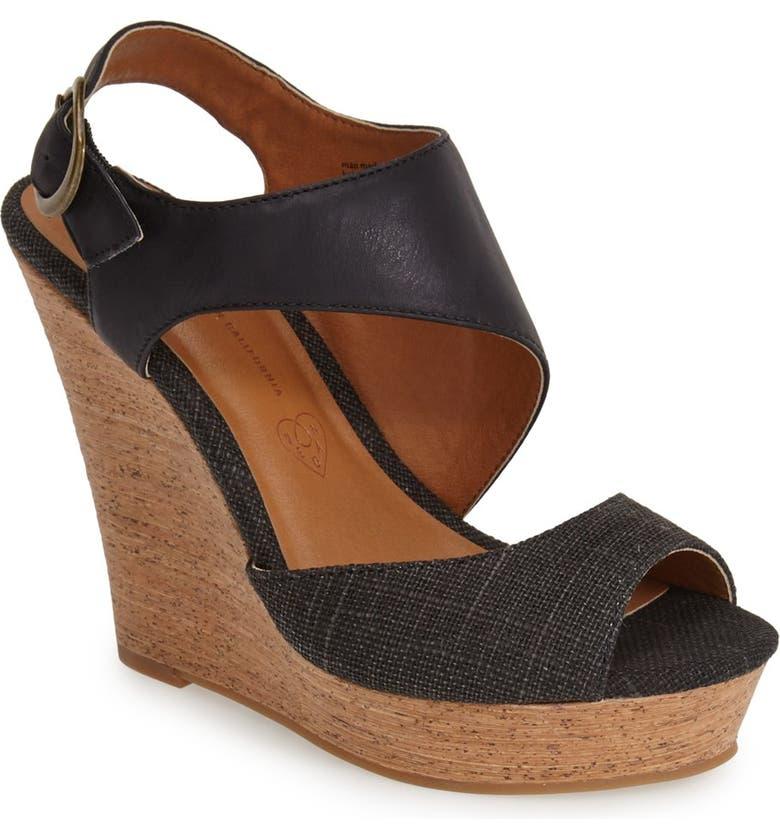 BC FOOTWEAR 'Chihuahua' Slingback Wedge Sandal, Main, color, 002