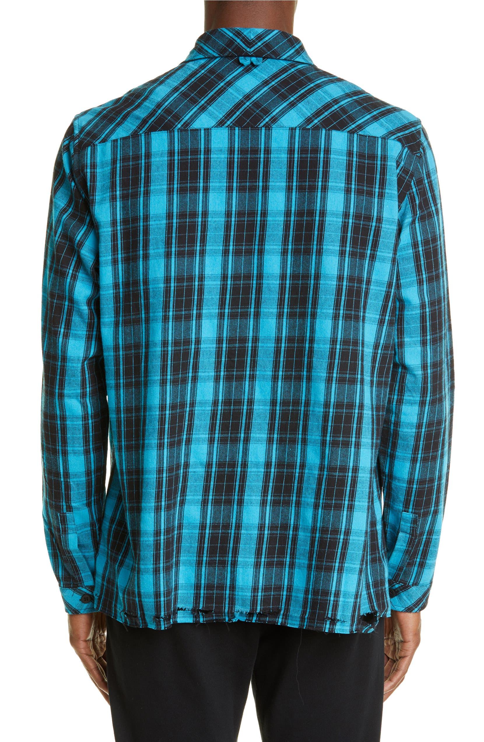 955b87650ce0 Marcelo Burlon County Check Plaid Button-Up Flannel Shirt | Nordstrom