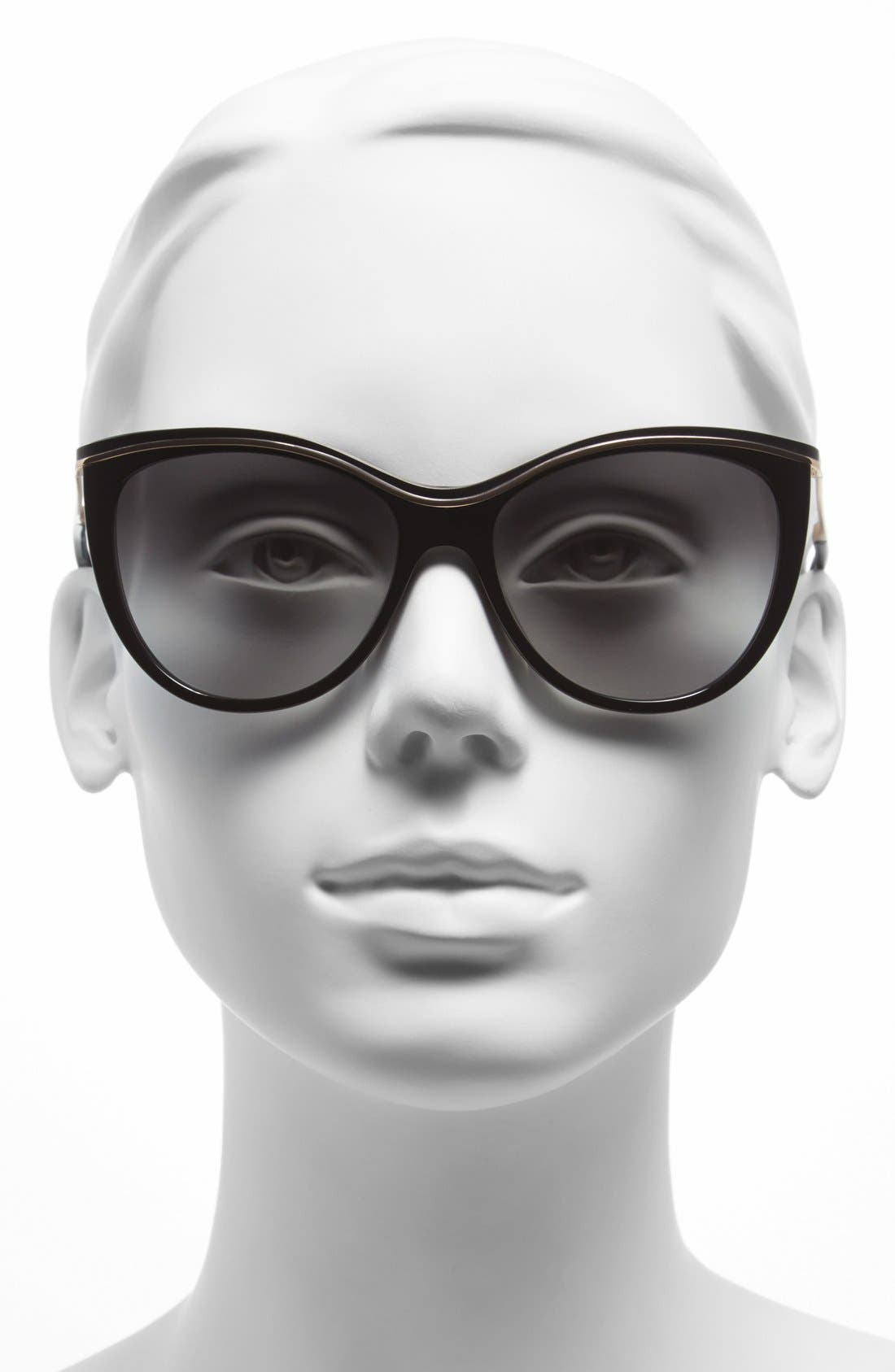 ,                             56mm cat eye sunglasses,                             Alternate thumbnail 2, color,                             001