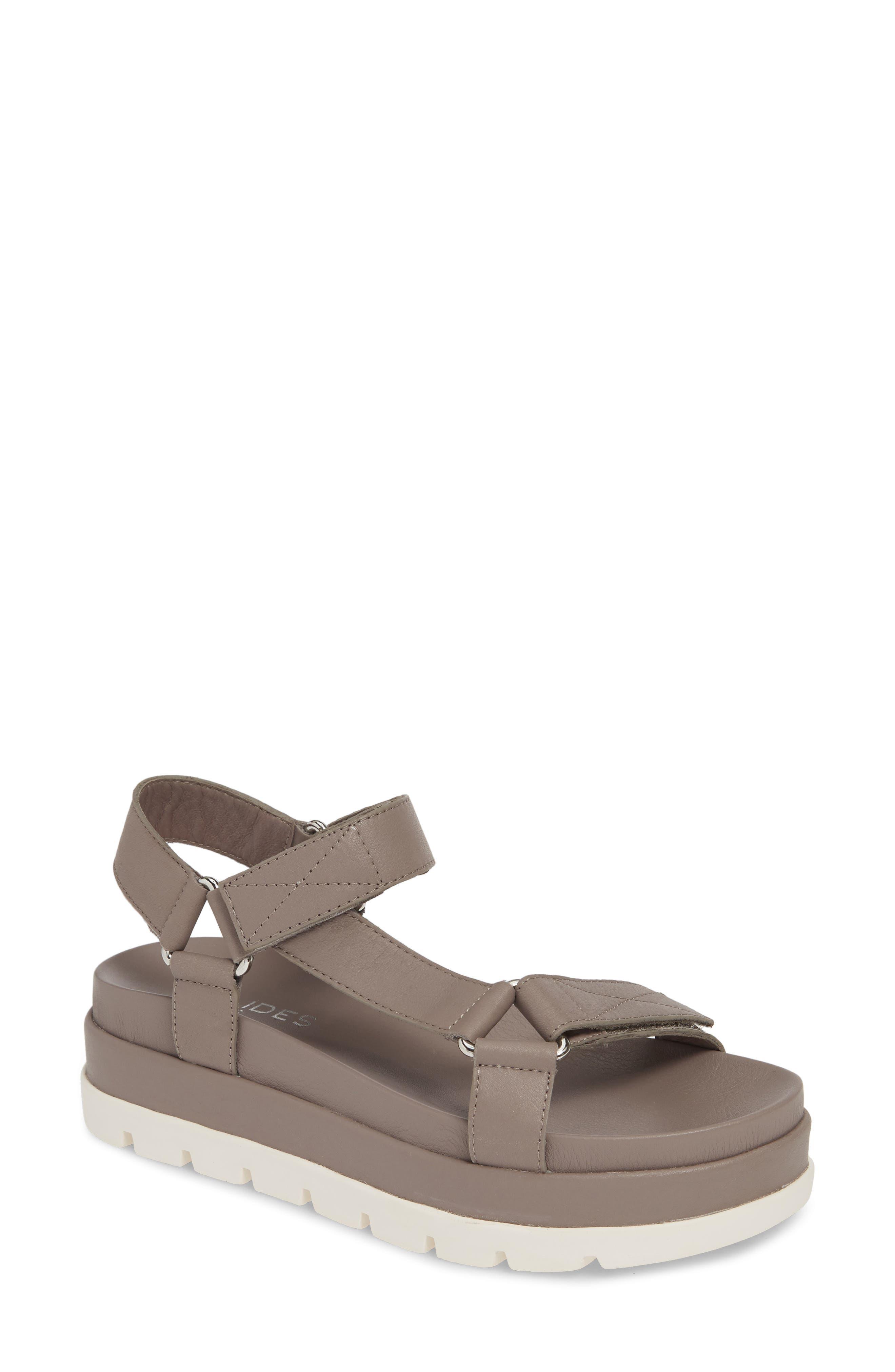Jslides Blakley Platform Sandal- Grey