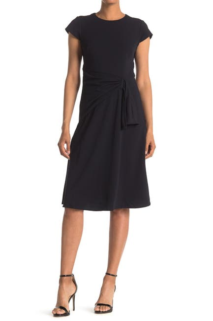 Image of Donna Morgan Fit & Flare Midi Ruched Dress
