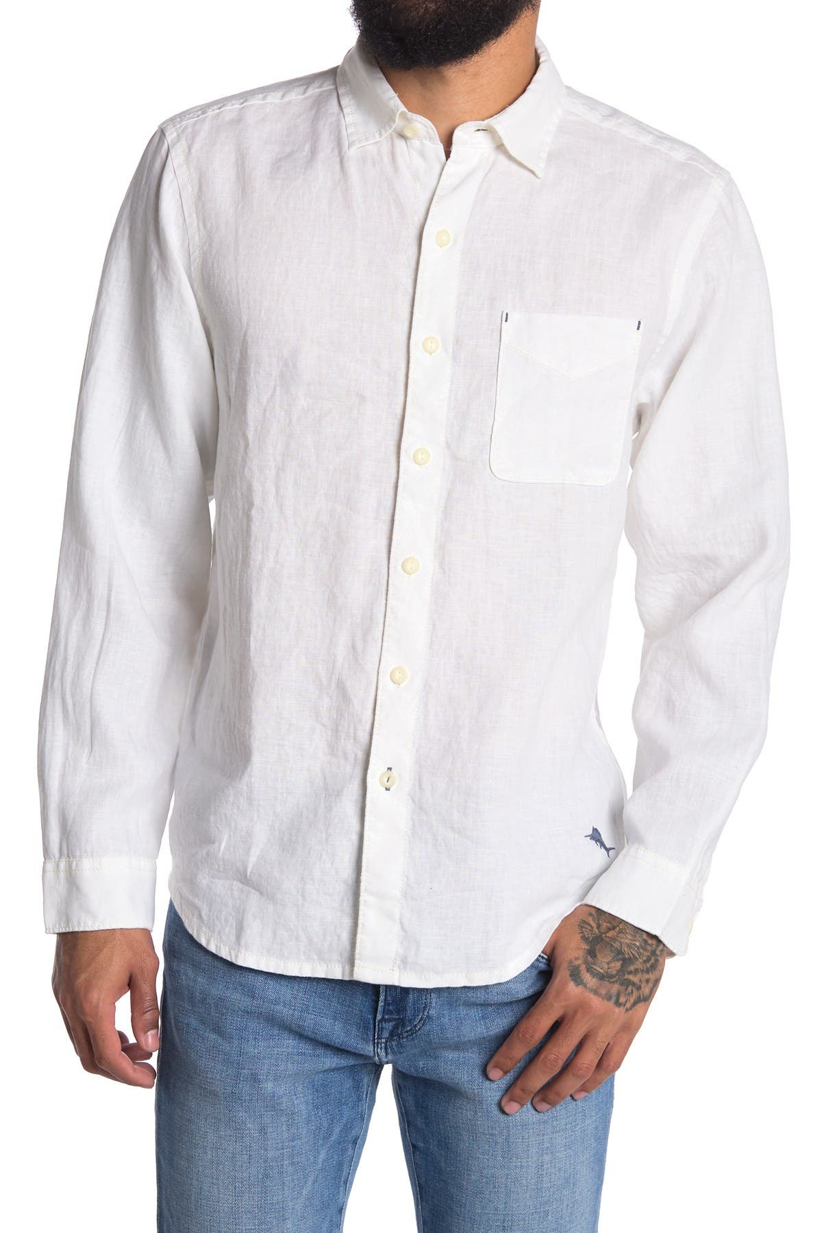 Image of Tommy Bahama Passport to Paradise Long Sleeve Regular Fit Shirt