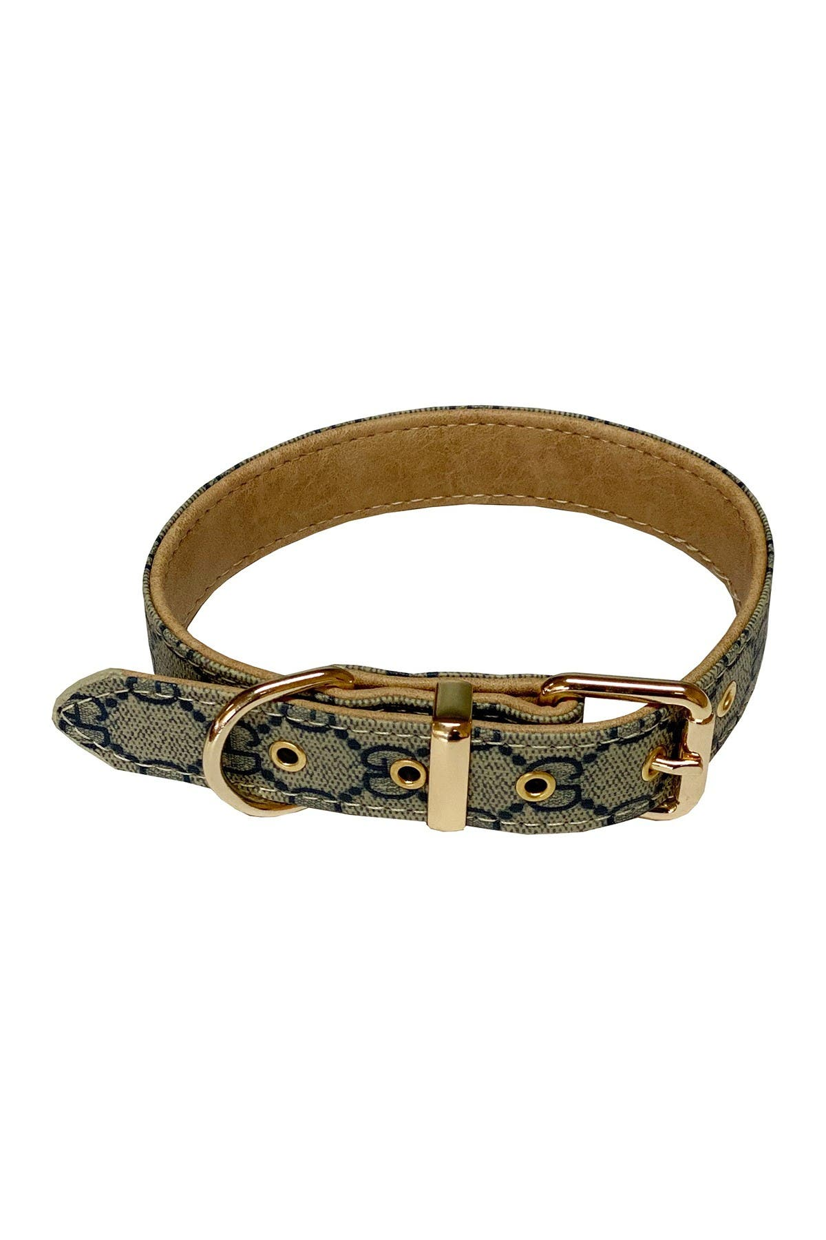 Image of Dogs of Glamour Sofia Dog Collar - Small - Blue/Beige