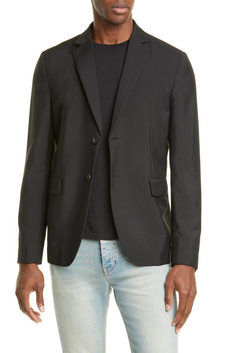ACNE STUDIOS Antibes Wool & Mohair Blazer, Main, color, BLACK