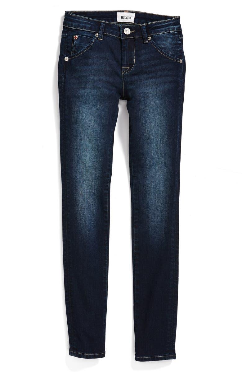HUDSON KIDS 'Collin' Flap Pocket Skinny Jeans, Main, color, 434