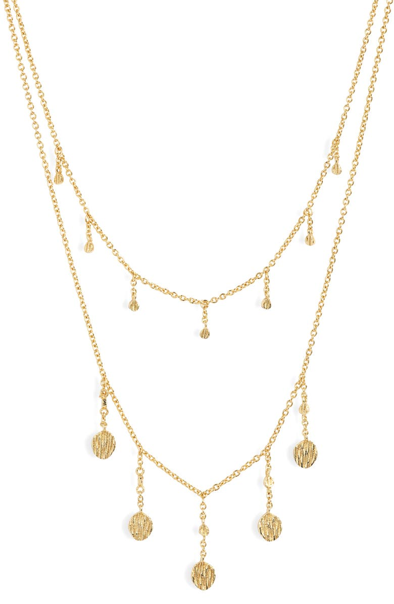 GORJANA Stella Layered Necklace, Main, color, GOLD