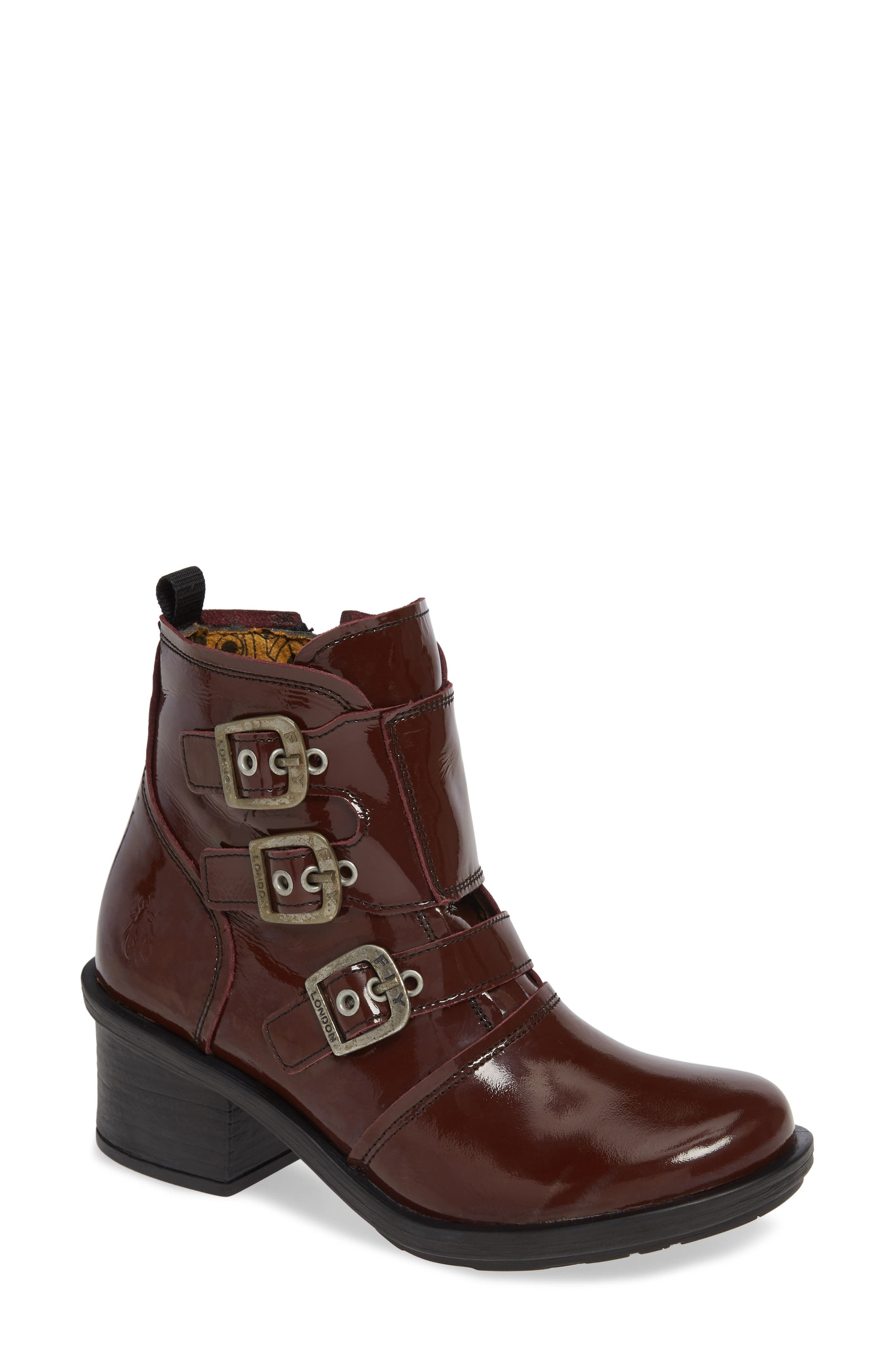 Fly London Crip Buckle Boot - Burgundy