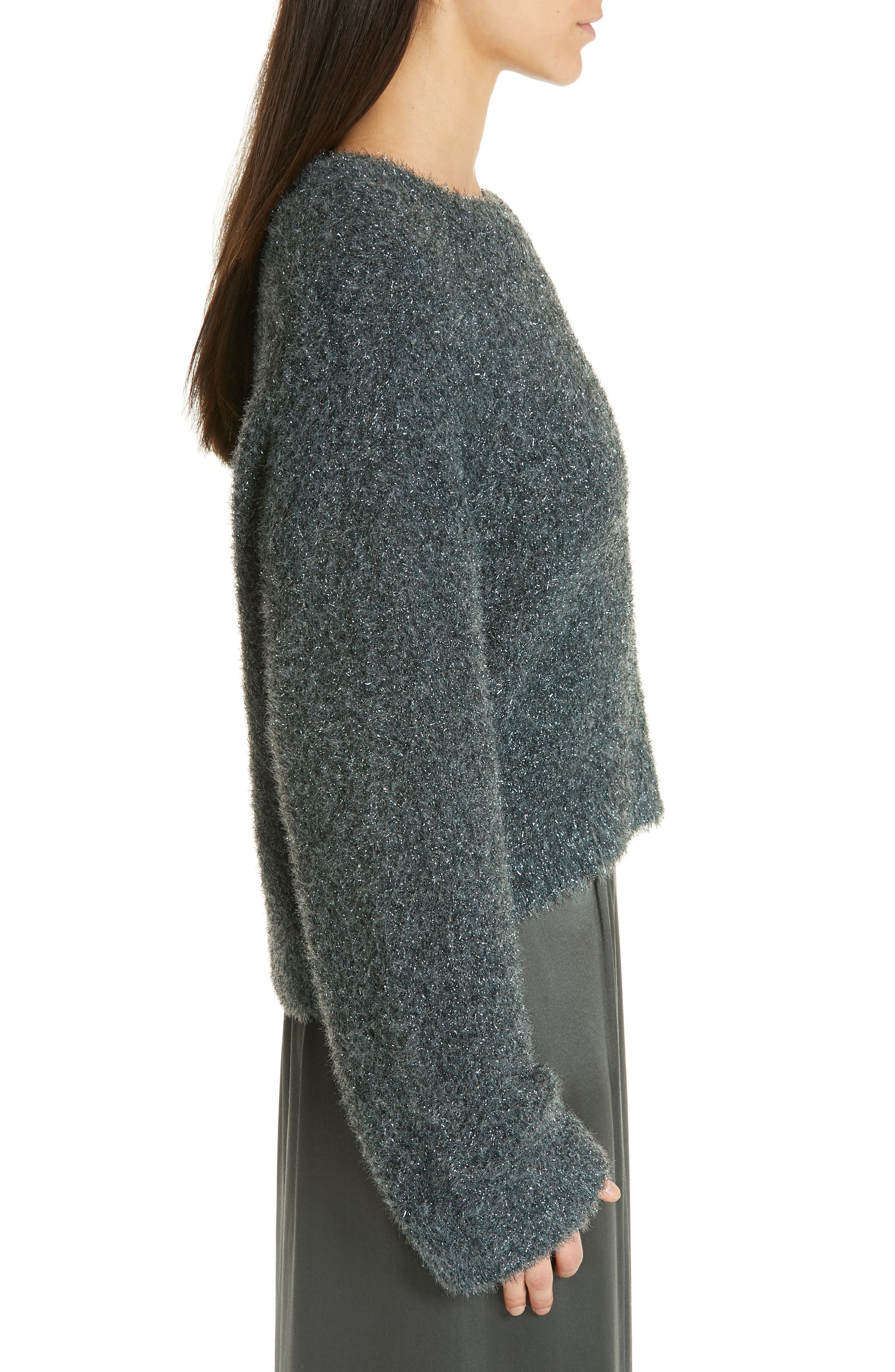 ,                             Boxy Metallic Knit Sweater,                             Alternate thumbnail 10, color,                             029