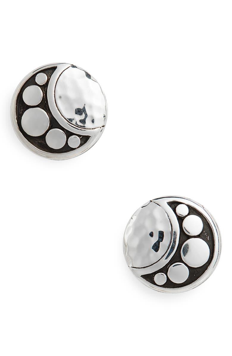 JOHN HARDY Hammered Dot Stud Earrings, Main, color, SILVER