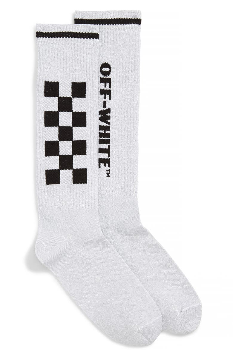 OFF-WHITE Taxi Socks, Main, color, 100