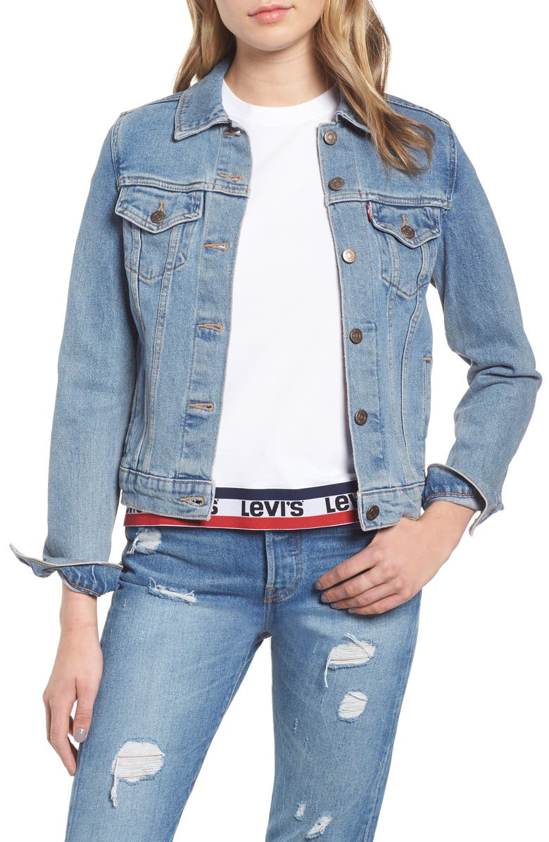 LEVI'S<SUP>®</SUP> Original Denim Trucker Jacket, Main, color, 420