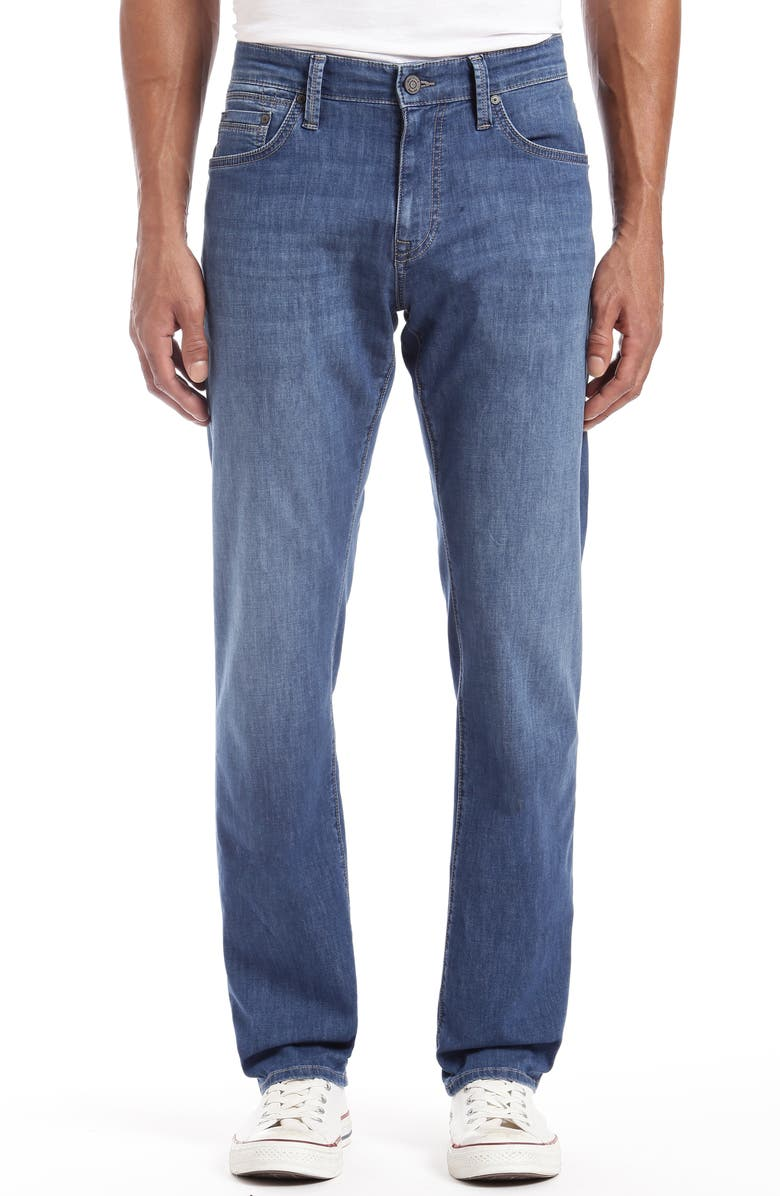 MAVI JEANS Zach Straight Leg Jeans, Main, color, INDIGO CHAMBRAY