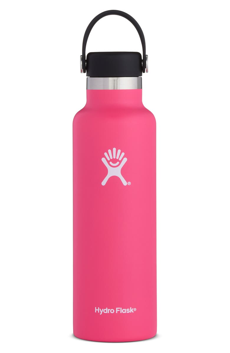 HYDRO FLASK 21-Ounce Standard Mouth Bottle with Sport Cap, Main, color, WATERMELON
