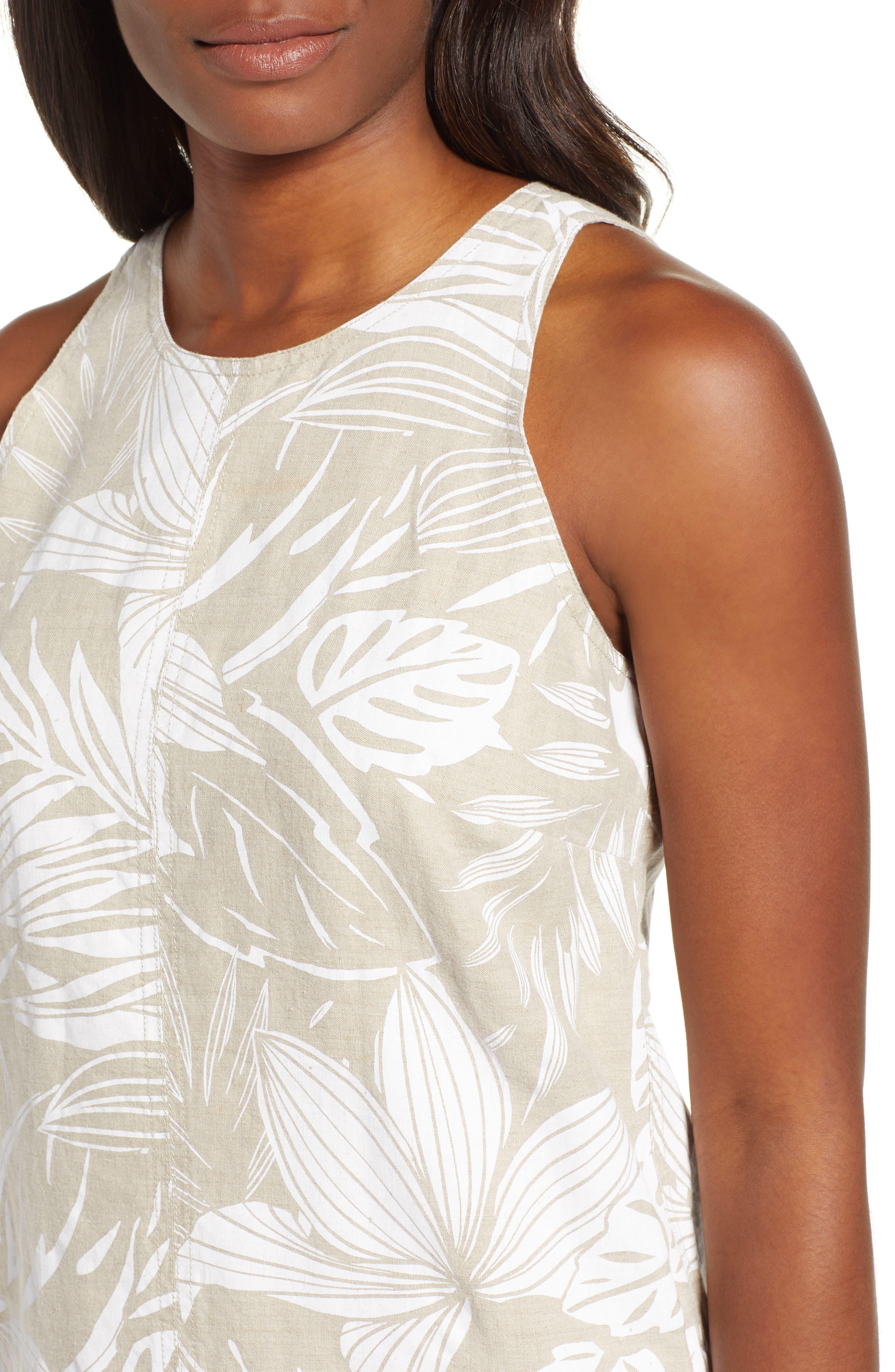 ,                             Mahana Linen Shift Dress,                             Alternate thumbnail 5, color,                             NATURAL LINEN