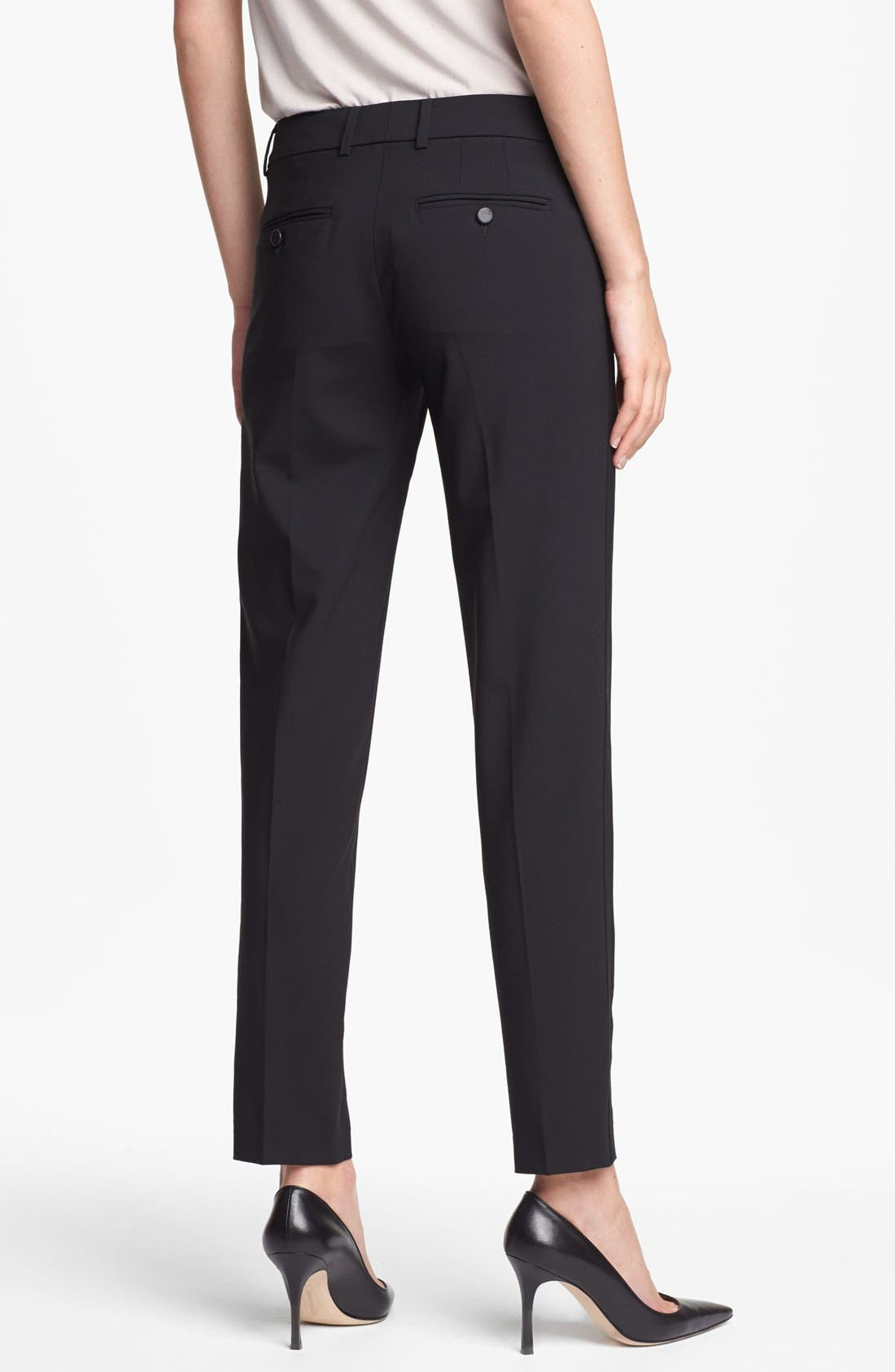 ,                             'Strapping' Stretch Wool Trousers,                             Alternate thumbnail 3, color,                             001