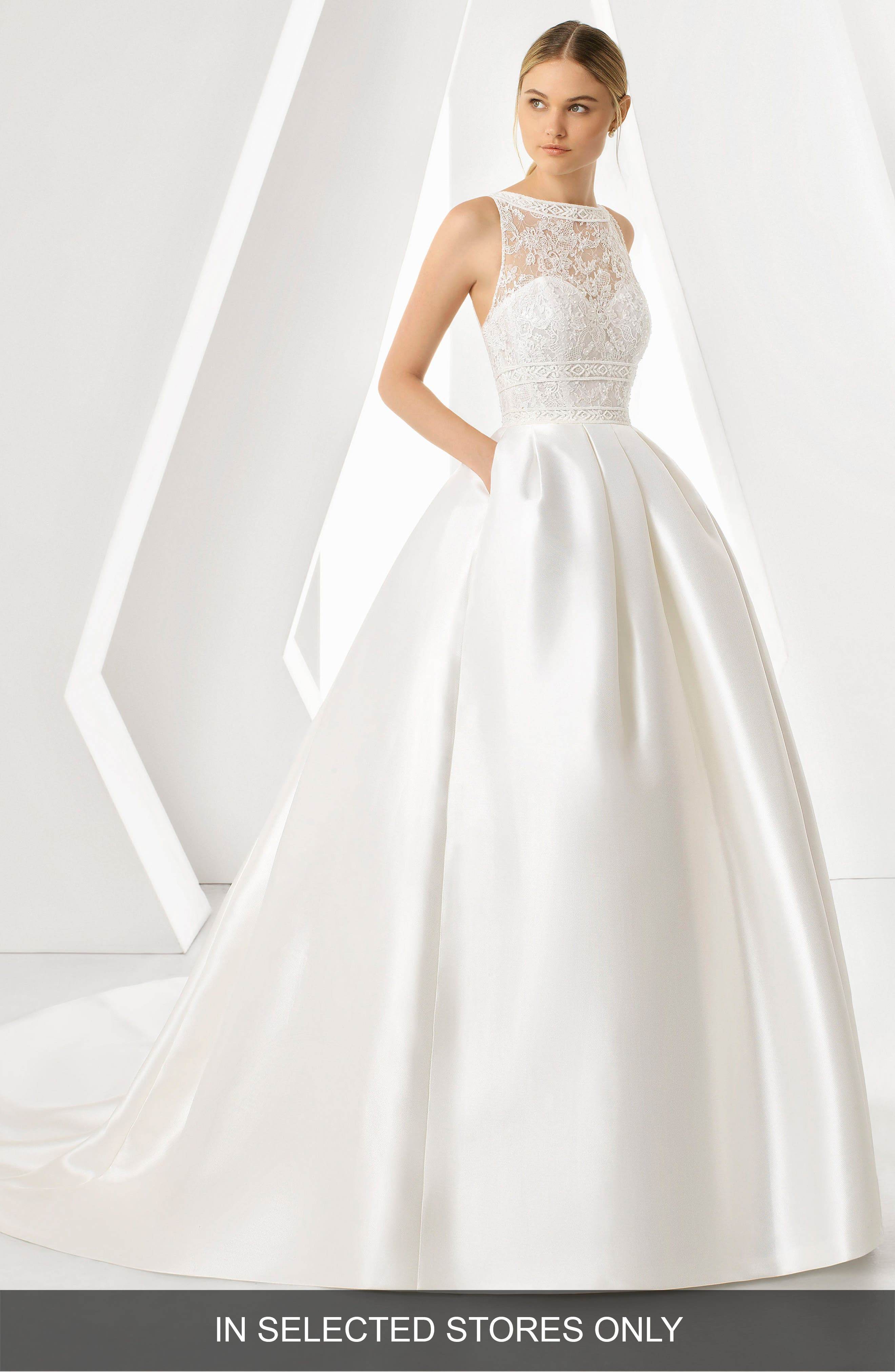 Rosa Clara Dream Lace Bodice Ballgown, Size IN STORE ONLY - Ivory