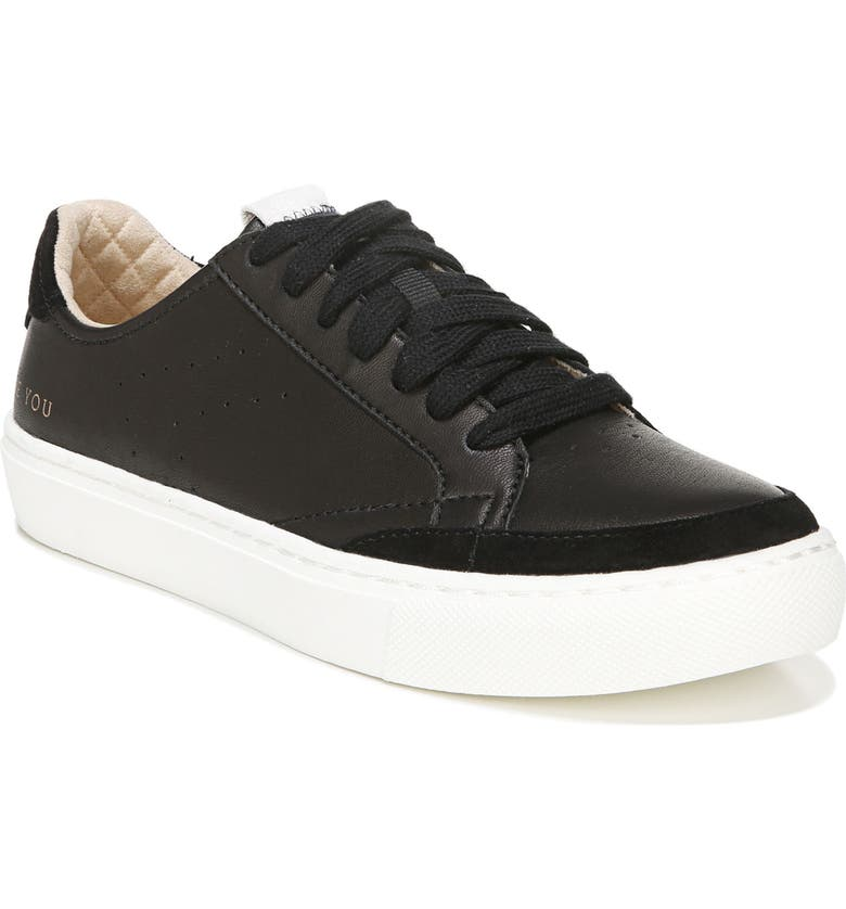 DR. SCHOLL'S All In Platform Sneaker, Main, color, BLACK LEATHER