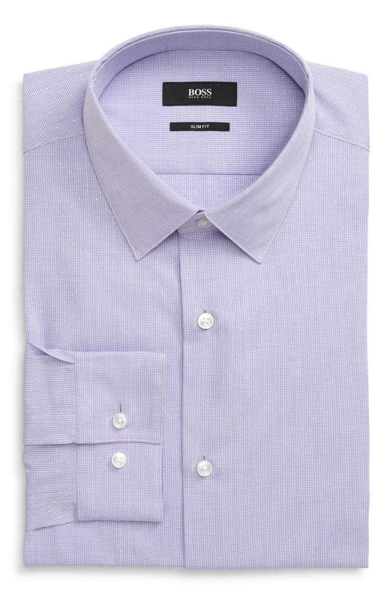 BOSS Isko Slim Fit Check Dress Shirt, Main, color, 510