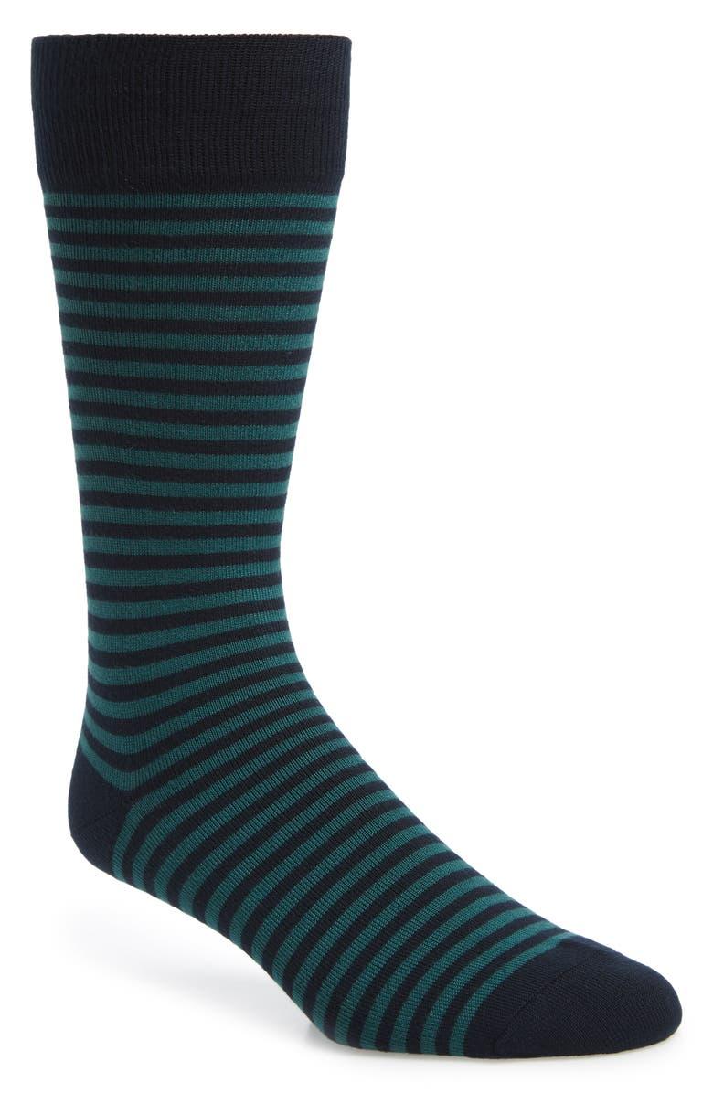NORDSTROM MEN'S SHOP Stripe Socks, Main, color, 410