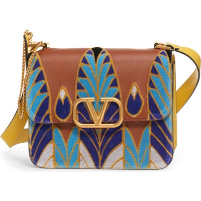 Valentino Garavani V-Sling Embroidered Shoulder Bag - Blue