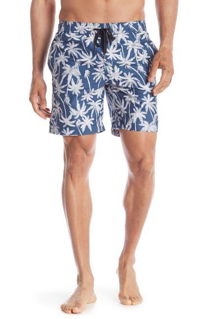Image of Onia Charles Palm Tree Print Swim Trunks