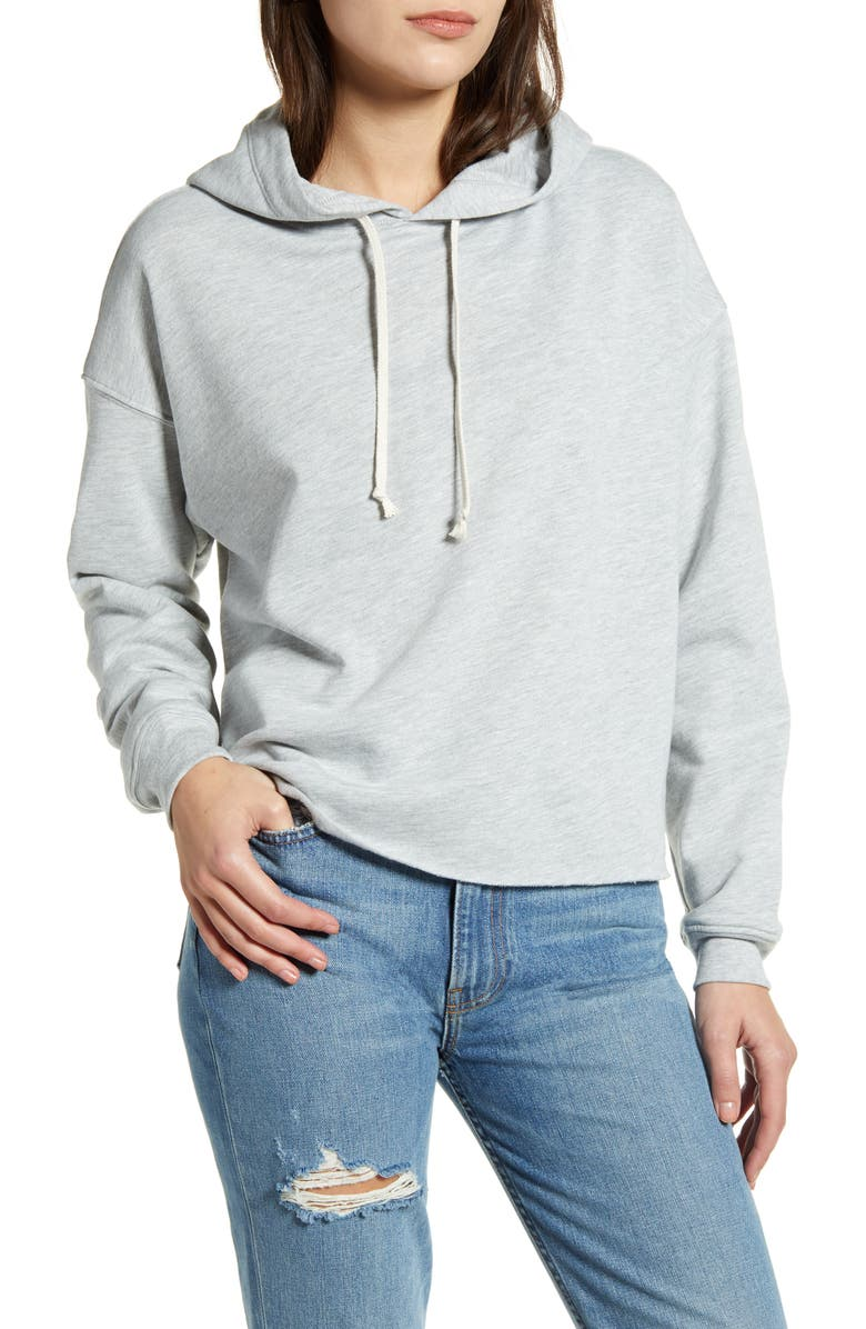 TREASURE & BOND Pullover Hoodie, Main, color, GREY LIGHT HEATHER