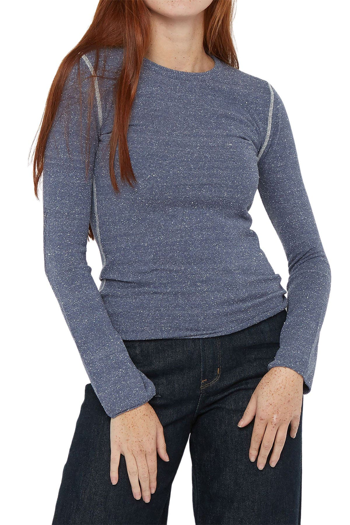Image of Billy Reid Contrast Stitch Crew Sweater