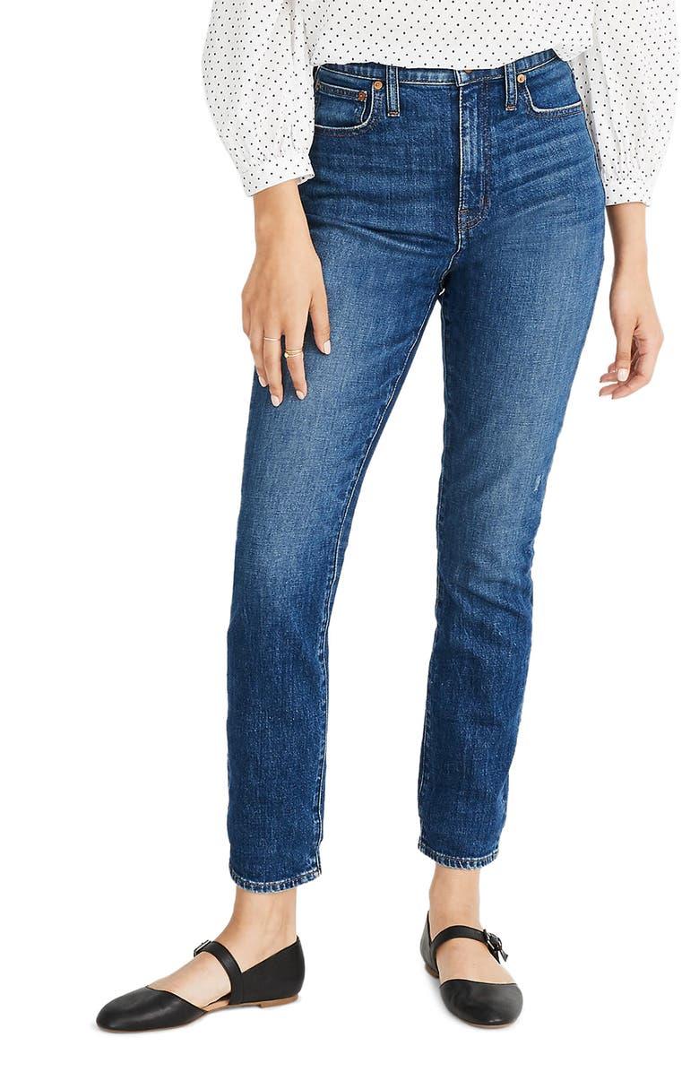 MADEWELL The High Waist Slim Boy Jean, Main, color, 400