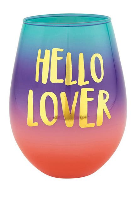 Image of SLANT COLLECTIONS Hello Lover Jumbo Stemless Novelty Wine Glass