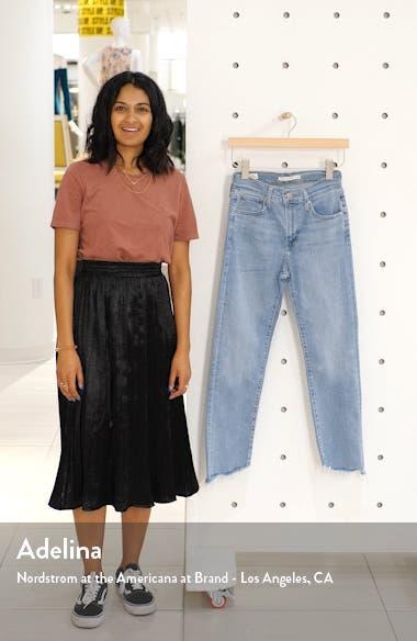 724<sup>™</sup> High Waist Fray Crop Straight Leg Jeans, sales video thumbnail