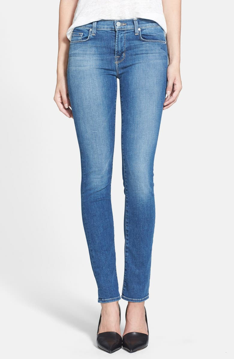J BRAND 'Rail' Mid Rise Straight Leg Jeans, Main, color, 400