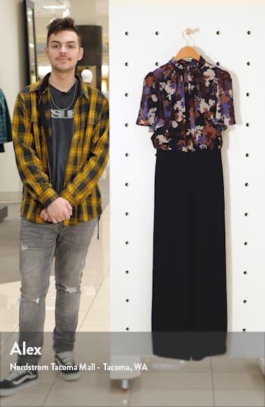 Floral Bodice Chiffon & Crepe Jumpsuit, sales video thumbnail