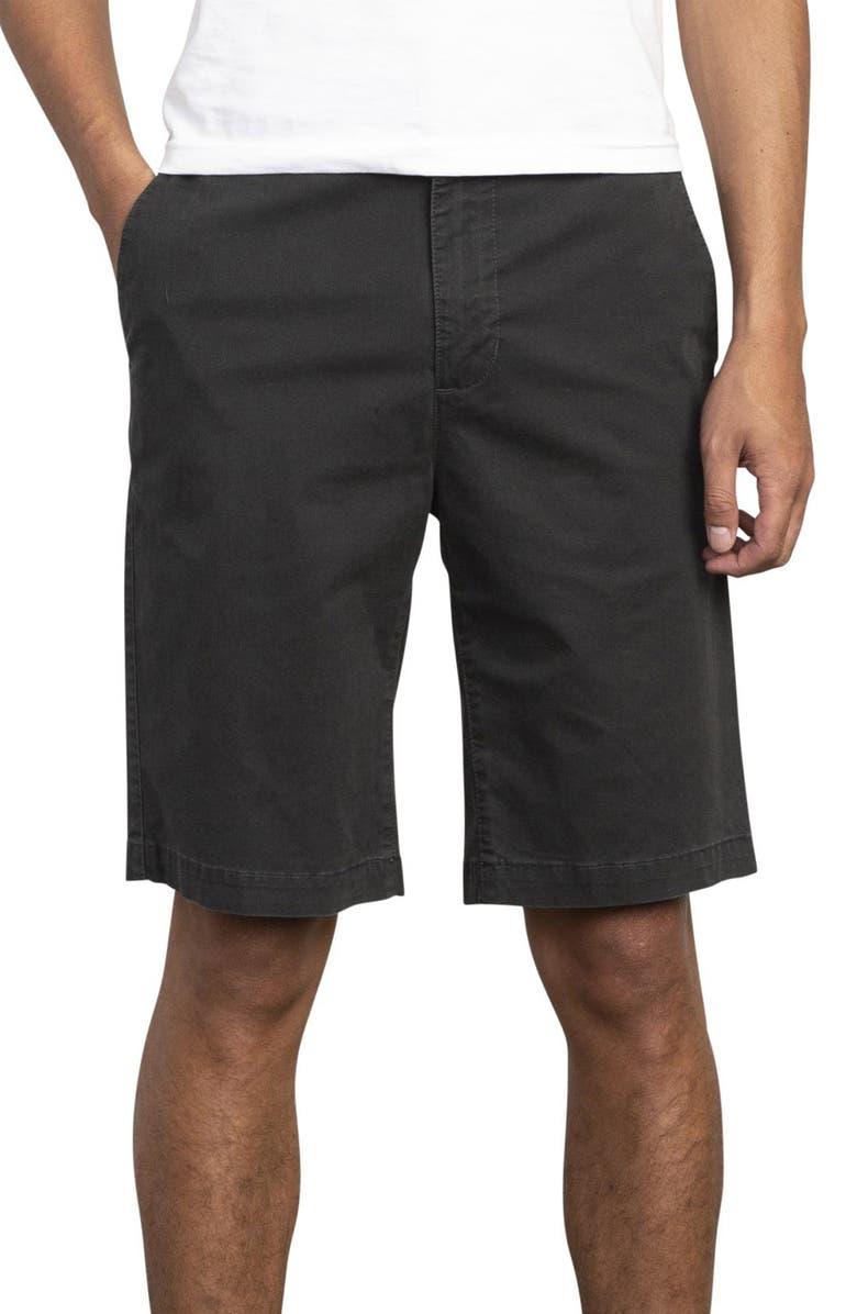RVCA Daggers Chino Shorts, Main, color, PIRATE BLACK