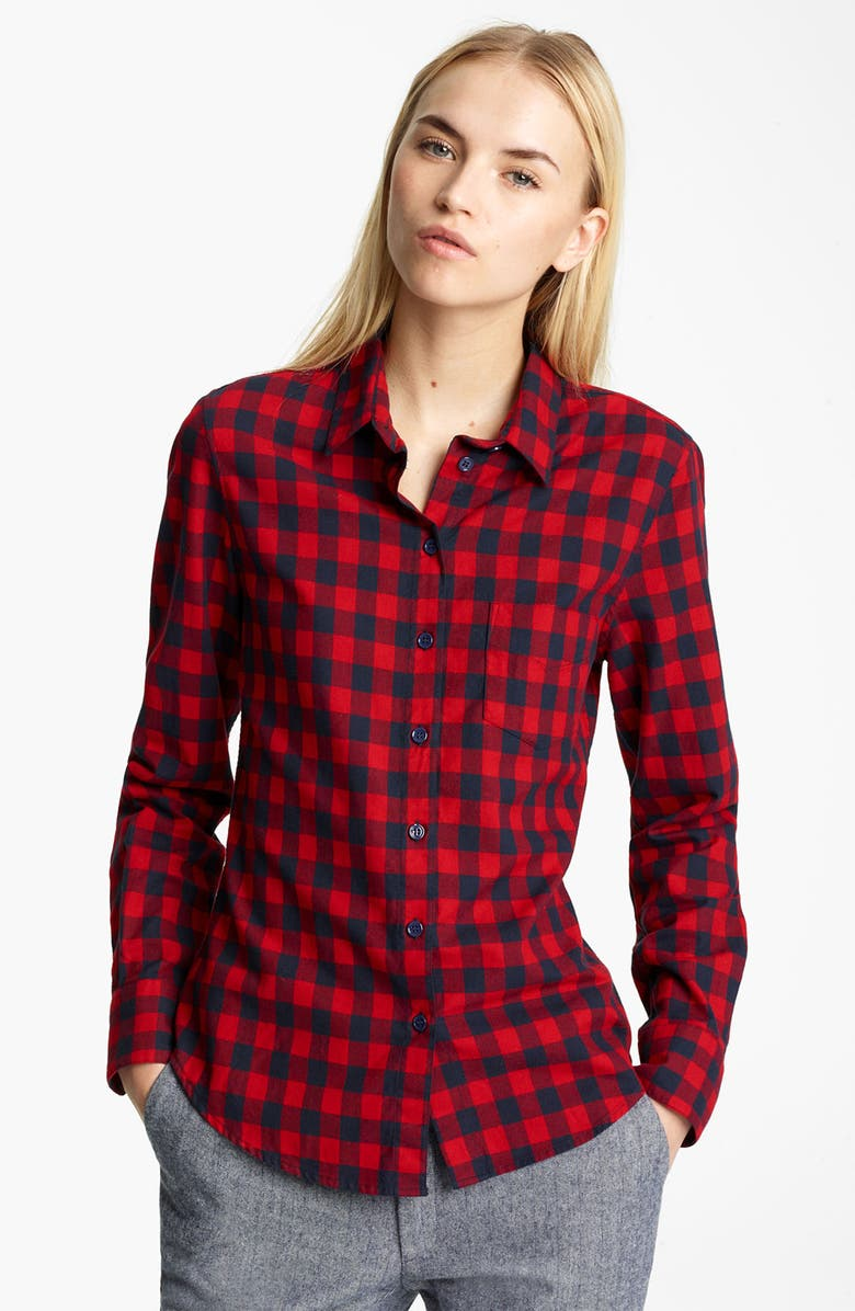 BOY. BY BAND OF OUTSIDERS Band of Outsiders Buffalo Check Shirt, Main, color, RED BLUE