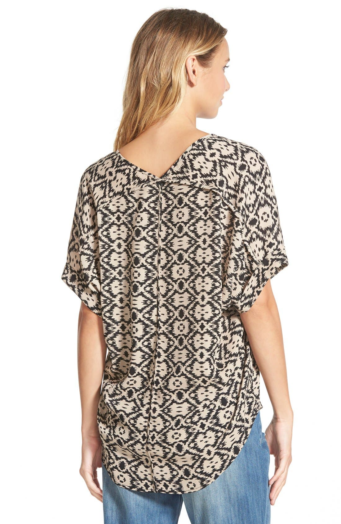 ,                             Lush Cuff Sleeve Woven Tee,                             Alternate thumbnail 15, color,                             007