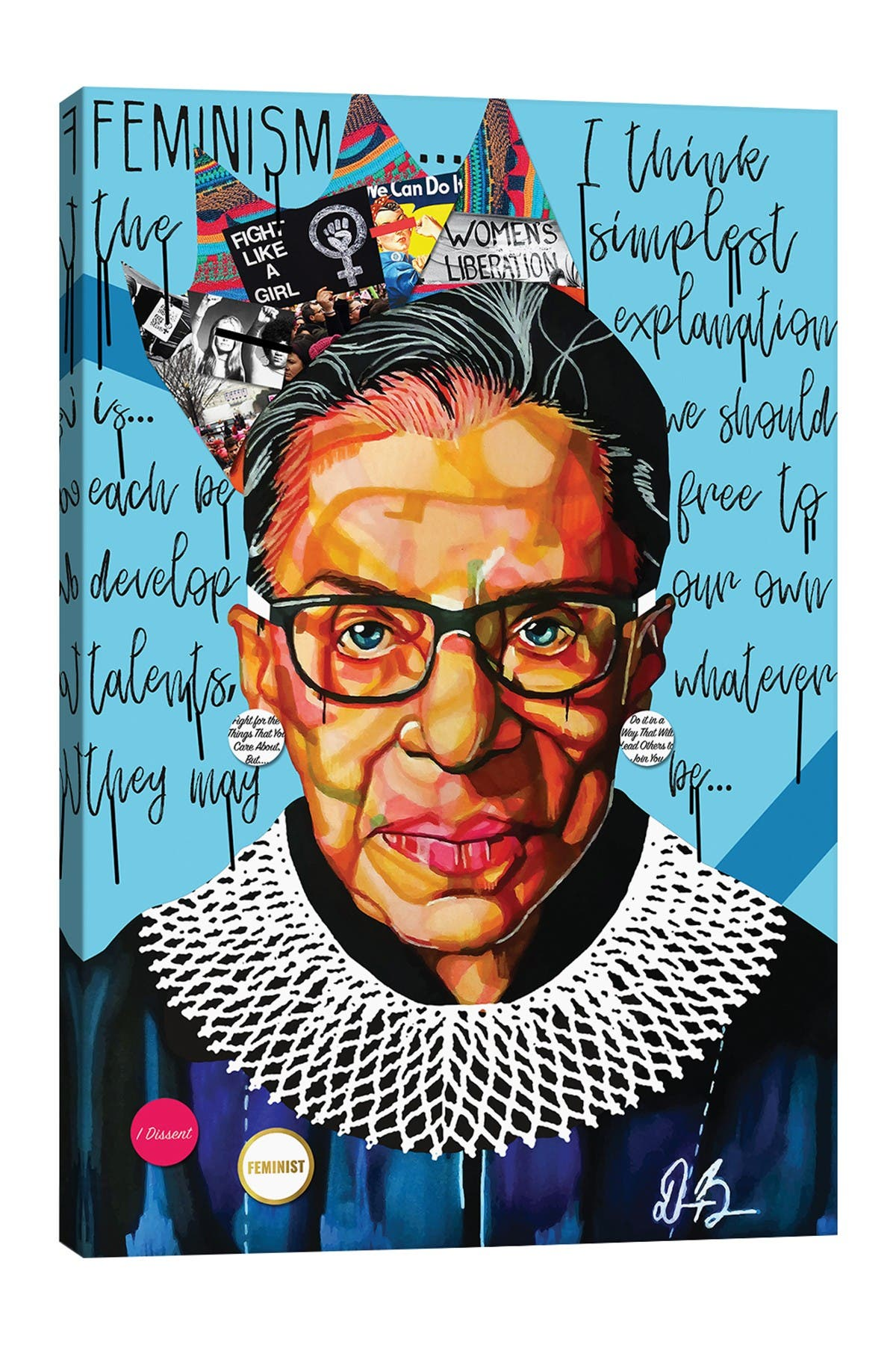 Image of iCanvas Ruth Ginsburg by Domonique Brown Canvas Art