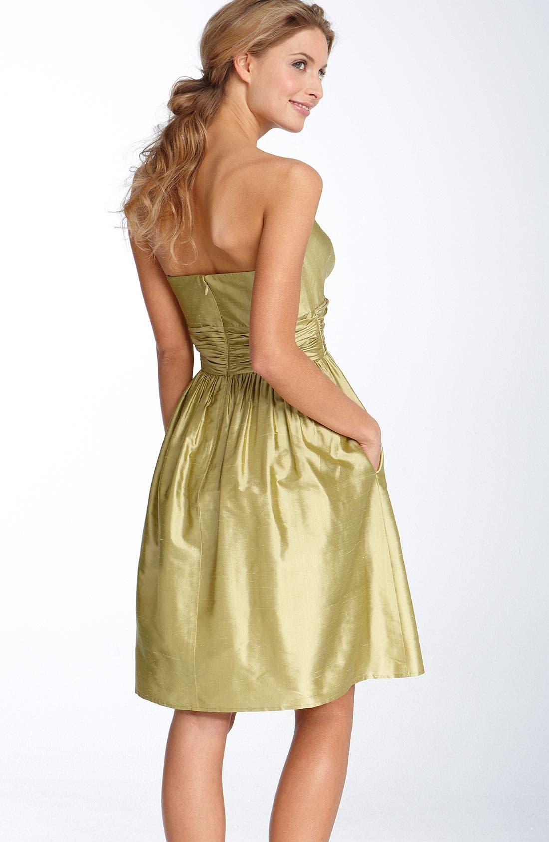 ,                             Silk Shantung Dress,                             Alternate thumbnail 6, color,                             376